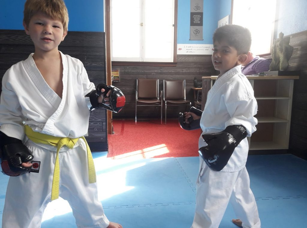 Port Perry Kids martial arts ipon kunite ready for sparing