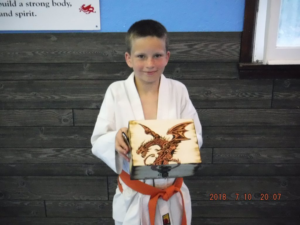 Port Perry Kids martial arts ipon kunite Jacob student of the month