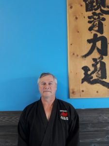 Sensei Greg Banting is a 3rd dan black belt
