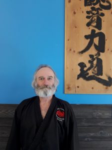 Sensei Jim Shullman 2nd dan black belt karate, approx 11 years other arts